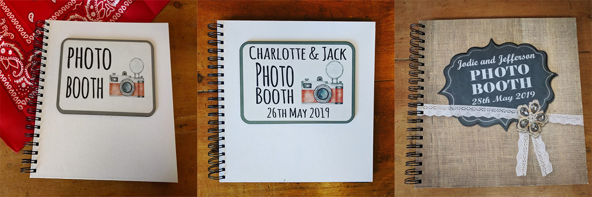 Personalised Photo Booth Guestbooks